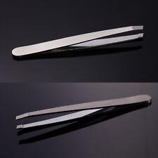 2 x Eyebrow Hair Removal Beauty Slanted Stainless Steel Tweezers Plucker Tool