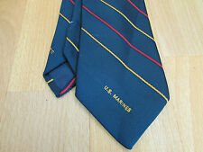 US Marines Marine Corps Tie by Schreter Made in US RN 17399 - SEE PICTURES