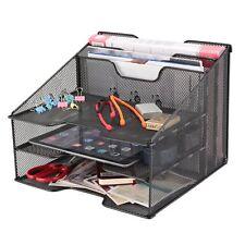 Samstar Mesh Desk File Organizer Letter Tray Holder, Desktop File Holder with 3