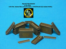 1/16 scale Modern 7.62 cal. Ammo Box (set of 4 open & 6 Ammo Belts) with Decals
