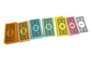 Monopoly Vintage Board Game Money Currency $1 $5 $10 $20 $100 $500