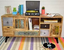 Country Timber Entertainment Unit TV Stand Sideboard Cabinet Scandinavian Retro