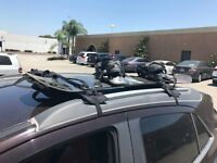 APlus Surf & Paddle Board Roof Rack Pads (2 Piece) Black Square 38 in Long  New