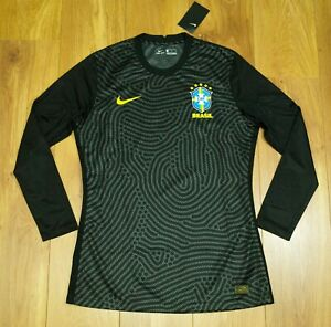Brazil 2021 Player issue Black Long sleeves GK shirt / Jersey size Mens L