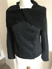 SOGGO Paris Black/charcoal Wool& Cotton Jacket Size 10