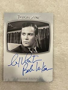 TWILIGHT ZONE WILLIAM SHATNER INSCRIBED BOB WILSON,AI-1 AUTOGRAPHED CARD,SEE PIC