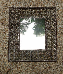 PICTURE ART or MIRROR FRAME from recycled metal rustic contemporary