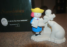 Snowbabies, Madeline & polar bear large figurine, A Gift So Fine, MIB, Dept. 56