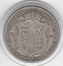 1921   King  George  V   Half  Crown  (2/6d) -  Silver  Coin