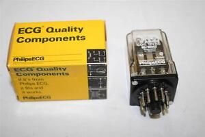 ECG Relay RLY1052 3PDT 10A 12VAC General Purpose Plug-in Relay R0214A1012
