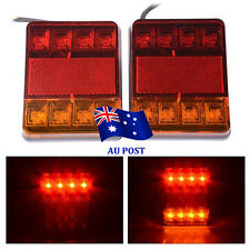 2 X DC 12V 8 LED Trailer Lights Tail Lights Trailer Rear Truck Caravan Square vw