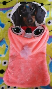Primark Dog Costume Outfit - Pink Furry & Glittery Flamingo Small Size