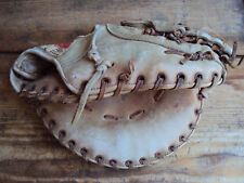 Vintage Hutch First Base Mitt Baseball Glove Model B620 Pro Model Cup-Trap