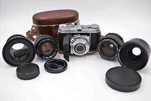 Konvolut Objektive Berolina, Cosina etc. & Kodak Retina Balgenkamera #W