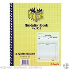 3 Pack Spirax #502 Quotation Book Carbonless – EA56502
