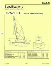 Equipment Brochure - Link-Belt - LS-248H II 200 Ton Crawler Crane 1997 (E3677)