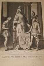 GRAVURE BELGIQUE ALEIDIS PRO LIBERIS  BRABANT VEEN COLLAERT 1623 OLD PRINT R995