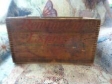 "Remington 14"" Express Gauge Ammunition Ammo Wooden Crate Box Dovetail 20Ga"