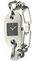 GUCCI Black Dial S-Steel Women's Bracelet Watch YA061506