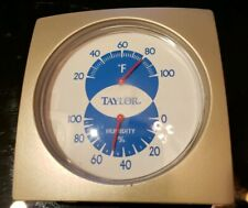 Taylor Classic VTG Style Silver Refrigerator Thermometer 20F to 100 °F