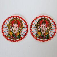 Aufkleber Sticker  2 x GANESH-Glitzer-,Indien Goa Hippie God-Stickers , 57