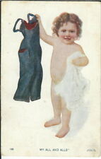BA-368 - My All and Alls, Child with Clothes, 1901-1907 Undivided Back Postcard