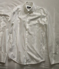 Hugo Boss Men's Slim Fit White Cufflink Shirt Size 39 15 1/2 Good Used Condition
