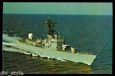 USS Glover AGDE-1 postcard  US Navy modified ocean escort (card2of2)