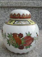Pot à Thé Porcelaine CHINE Décor FLEURS+OR  12 cm haut