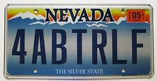 Nevada 2012 VANITY License Plate FOR A BETTER LIFE