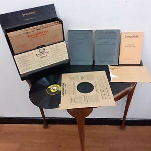"LINGUAPHONE GERMAN DEUTSCH LEARNING COURSE 16 VINYL 10"" INCH RECORDS. 78 rpm Con"