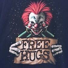 Killer Klowns From Outer Space T Shirt Free Hugs Graphic Tee Scary Clown Blk 3XL
