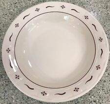 Longaberger Pottery Woven Traditions Traditional Red Pasta Serving Bowl 12�