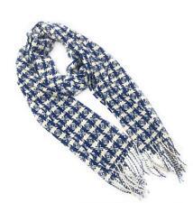 100% Pure Cashmere Scarf Blue Contemporary Design Luxury Scarves for Men & Women