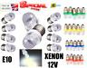 UPTO 10X E10 1SMD Xenon LED Bulbs Mes Screw Torch Headlamps Dashboard Light 12V