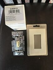 NEW Lutron Qoto 3 Way 600w Dimmer Q-603P-IV AND WALLPLATE IVORY 2 ITEMS