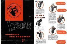 Lyman 1953 Sight Catalog Number 37