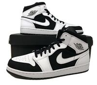 Nike Air Jordan 1 Mid White/Black Mens Retro Basketball Shoes 554724 113 (NEW)
