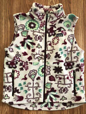 Kids' 2007 PATAGONIA Pink Floral Pattern Fleece Vest, Size Small