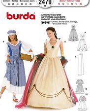 Burda 2479 Sewing Pattern Woman Fancy Empress Dress Washerwoman Costume Sz 10-20