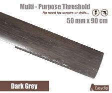 Dark Grey Multi Floor Threshold Strip 50mmx90cm Multi-Height/Pivot Easyclip
