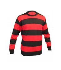 Kids Boys Unisex Red /Black Denis Stripe Knitted Book Week Jumper Age 5-12 Years