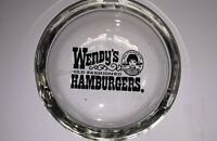 WENDY'S Old Fashioned Hamburgers Clear Glass Ashtray