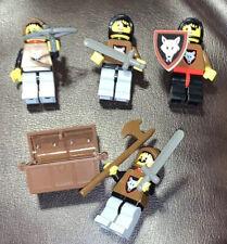LEGO Vintage Wolfpack Minifigure 4x Lot 6086 6105 6038 6075 Castle Weapons 1992