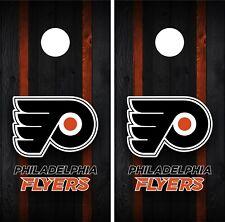 Philadelphia Flyers Cornhole Wrap Decal Stickers Vinyl Gameboard Skin Set JC113