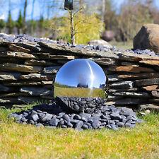 Edelstahl Springbrunnen Kugel 38cm poliert für Kugelbrunnen Wasserspiel Garten