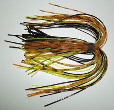 -Bass Fishing-NEW Green Pumpkin 5 Starflash Custom Silicone Spinnerbait Skirts-