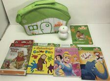 Leap Frog Tag Junior Reader & 4 Books Curious George Pooh Disney Princess BAG