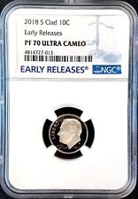2018 S Proof Clad Roosevelt Dime, NGC Early Releases, PF 70 Ultra Cameo!