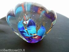 Murano Fan Shaped Glass Fish Bowl - Vintage 1960's